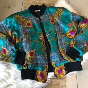 Vintage Baroque Bomber Jacket